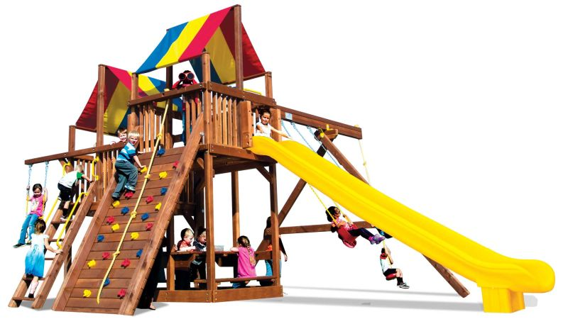 Rainbow Clubhouses Backyard Playworld Omaha