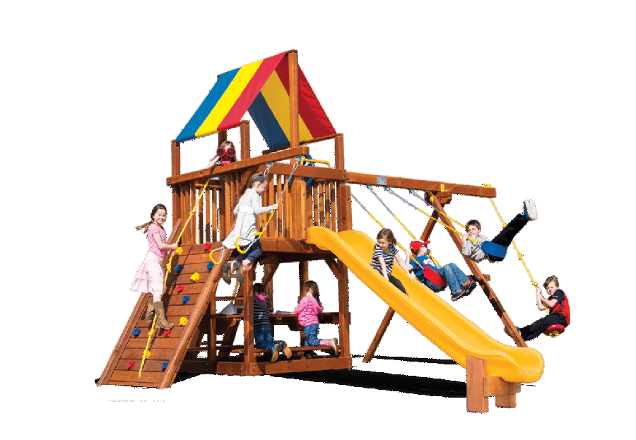 Rainbow Swingsets Clubhouse Backyard Playworld Omaha